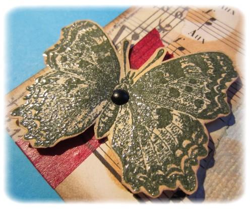 papillon embossé