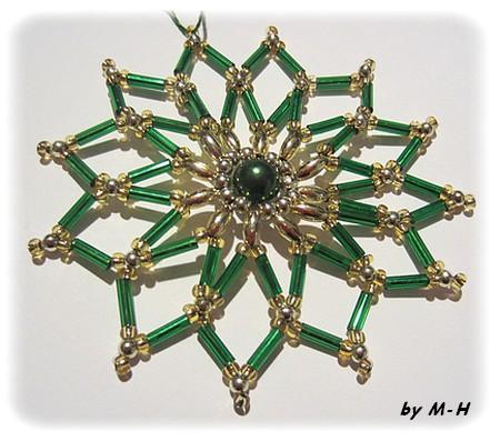 étoile en perles