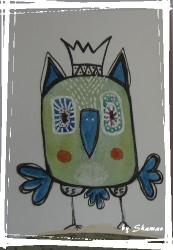 bird bleu vert